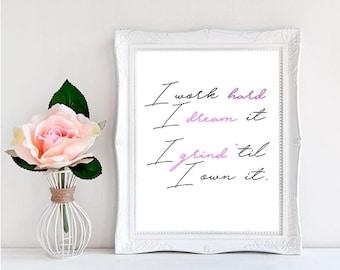 Beyonce Print, Beyonce Poster, Formation, Printable, Digital Print, Beyonce Quote, Beyonce Art, Home Decor, Gift Idea