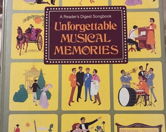 Readers digest songbook unforgettable music memories, sheet music with lyrics, Great songs of yesteryear