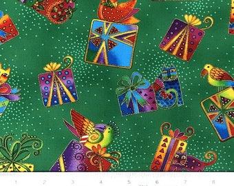 Laurel Burch Christmas Bountiful Blessings OOP Fabric #90354-4M