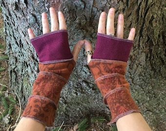 Upcycled Armwarmers, Fingerless Gloves, Upcycled Accessories, Eco Friendly Accessories, Wool and Cashmere