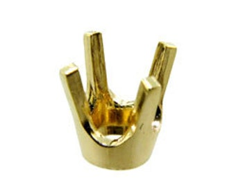 4 Prong Round Low Base Head 4.40mm (33pt) 14KY Gold (120-33)