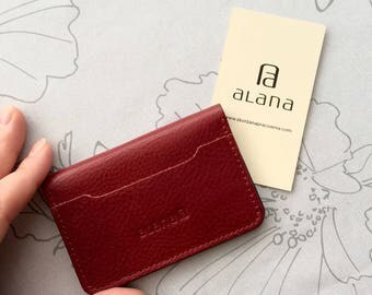 Personalization. Leather card case. Leather card holder. Leather credit card wallet. Small wallet. Gift for Christmas