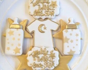 Twinkle Twinkle Little Star   Baby Shower Cookies   Gender Neutral Baby   One Dozen
