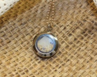 AUTHENTIC Outer Banks SEAGLASS, Made in the OBX, Sterling, WaterProof Locket