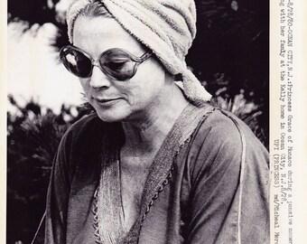 Vintage Wire photograph Grace Kelly (Princess Grace, Monaco) - Ocean City, NJ. dated: 8/28/80