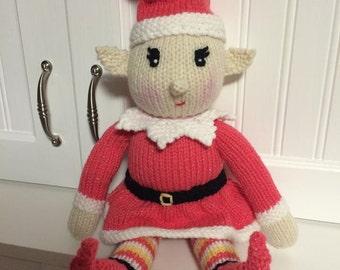 Baby boy Elf knit doll