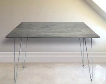 Gray Wood Office Desk, Gray Wood Desk. CHOOSE ANY SIZE. Free Shipping!