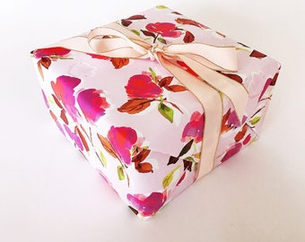 Dizzy Pink Floral Gift Wrap