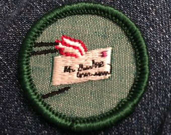 Vintage Girl Scout Meit Badge Pen Pal - letter writing mail achievement success