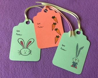 Handmade Paper Gift Tag Assortment - Easter