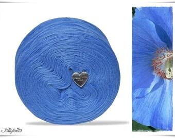 Solid Yarn Merino Light Cobalt Blue 1'000m