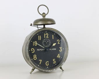 Vintage Repeat Alarm Clock German Retro