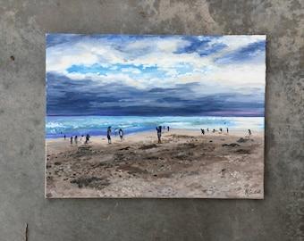 Cali Beach- Original Oil Painting