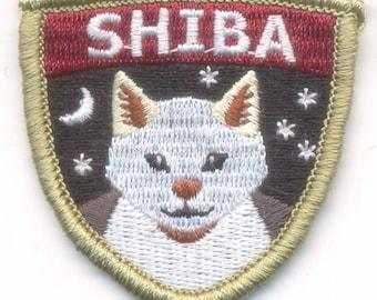 Embroidered Cream Shiba Inu Patch