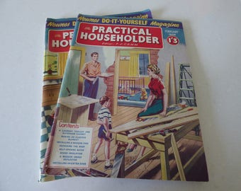 Two 1958 copies of Practical Householder