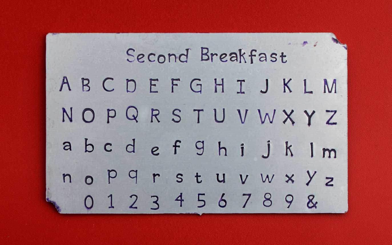 Second Breakfast 4.50mm font STAMPS, #139 Complete Set ...