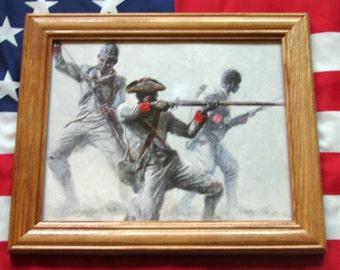 Revolutionary War Painting. Mort Kunstler, 1st Rhode Island, African American