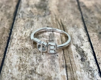 Gamma Phi Beta Sorority Classic Letter Ring | Sorority Ring | Gamma Phi Beta Ring | Gamma Phi Ring | Gamma Phi Beta Jewelry