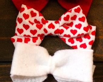 Valentines Day Bow Set