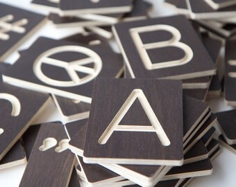 Custom Made Wooden Letters Numbers Symbols - sustainably made in Australia