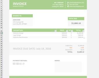 Invoice Template Spreadsheet