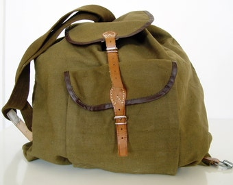 Oversized Canvas Backpack.
