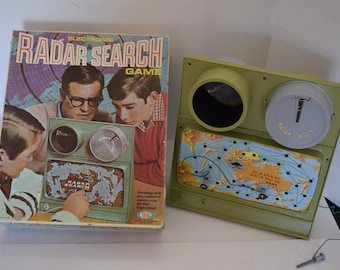 """Vintage 1969 Ideal """"Radar Search"""" Strategy Game"""