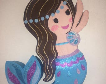Mermaid pinata, mermaids birthday party