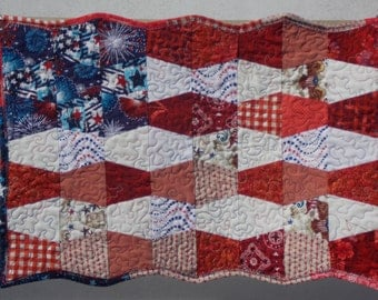 Red, white, and blue flag wall hanging