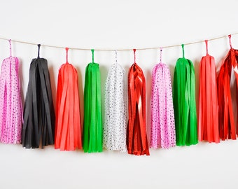 Watermelon Party Tassel Garland, Summer Party, Strawberry Picnic Party, First Birthday, Cake Smash, Birthday Banner, Baby Shower Tassel