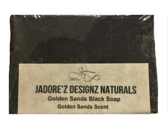 Black Soap w/ Golden Sands JaDore'z Designz Naturals