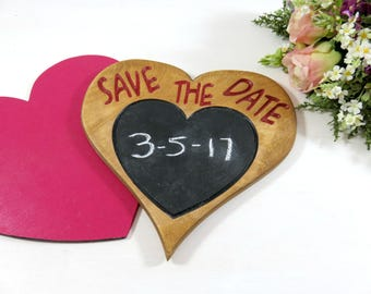Save The Date Chalkboard Sign - Custom Save the Date - Engagement Prop - Photo Prop Signs - Save the Date Decor - Wedding Date Prop - Sig
