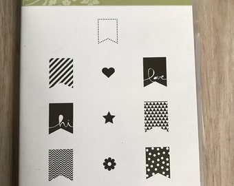 Destash Stampin Up Banner Blast Stamp Set