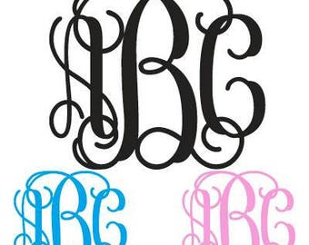 Monogram Decal Vine