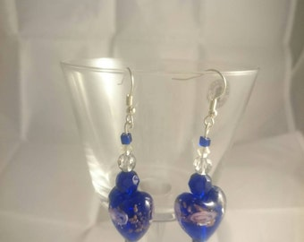 Not all blue hearts are cold -earrings