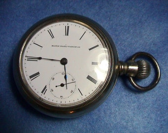 1884 Elgin Lever Set Pocket Watch, Free Shipping (275)