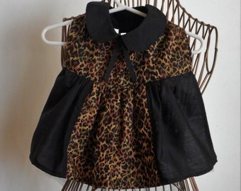 Black & Leopard Dog Dress