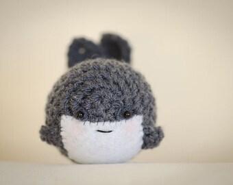 Cute Mystery Whale Amigurumi Kawaii Blue Whale - Amigurumi Whale Crochet  OOAK