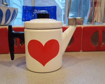 Rare Arabia Finland Finel Heart Coffee Pot EXC