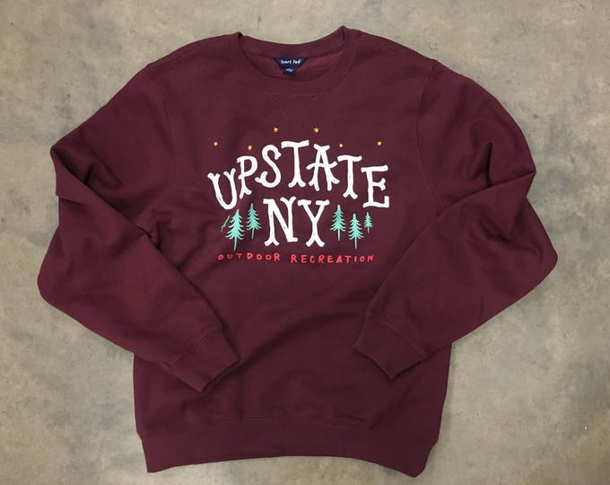 Featured listing image: Upstate New York Outdoor Recreation crewneck sweatshirt Positive Approach X TwoGuysGoodBuys