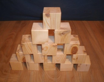 "2"" unfinished wood blocks SECONDS, 26 wood block, wooden block, unfinished wooden block, unfinished toy block,  baby block"