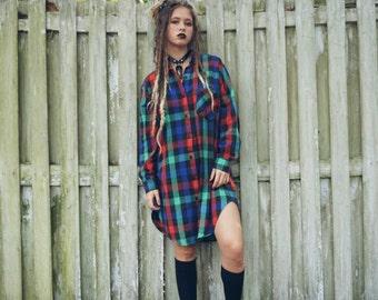 Vintage flannel dress / tunic
