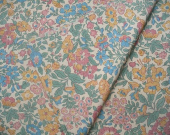 Vintage 1930s -1940s silk dress fabric yardage, possibly Liberty