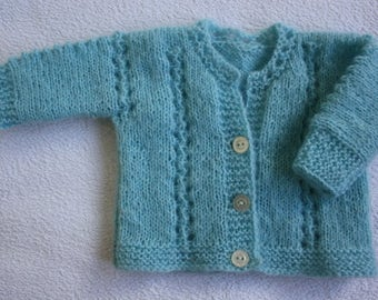 Blue Knitted Baby Cardigan