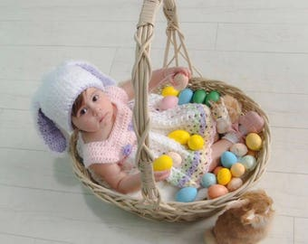 Easter Bunny Hat - Vintage Baby Dress - Sold Separately - Super Soft Bunny Hat - Select a Size and Color  - Spring Photo - Fuzzy Bunny Hat