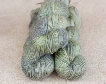 Hand dyed natural Baby Alpaca and Merino yarn - 4ply - 100 grams - 225m/246 yards - Grellow