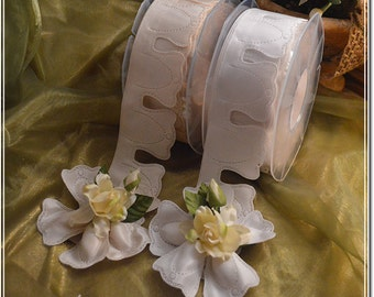 Coccarde ribbons made in Italy, confetti flowers, Jordan almonds rolls, almond favors rolls DIY favors Flower Pull Bow Ribbon Jordan almonds