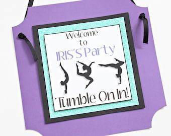 Gymnastics Birthday Party Sign - Gymnastics Party Door Sign - Gymnastics Party Decor - Gymnastics Welcome Sign
