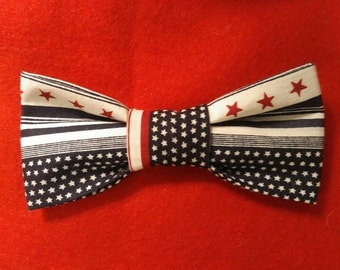 Boys Patriotic Clip-On Bow Tie