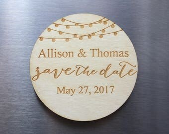 Wood Save the Date Magnets - Wedding Invites - Wedding Save the Date Magnet - Rustic Save the Date - Custom Save The Date Magnets